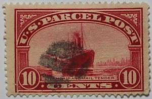 1913 Steamship and Mail Tender 10c