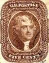 Thomas Jefferson 5c brown