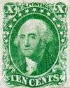 George Washington 10c green