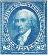 James Madison $2 bright blue