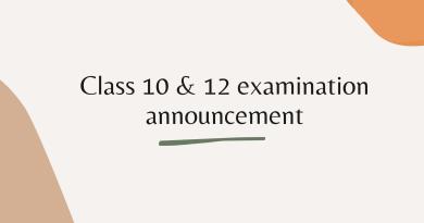 Class 10-12 exam date announced
