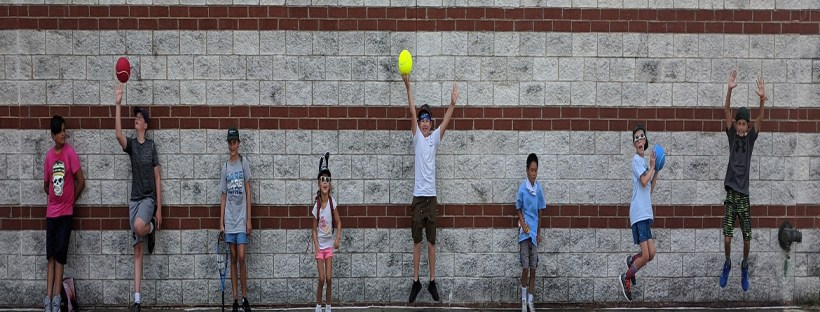 Summer Tennis Successes - Kids Jumping