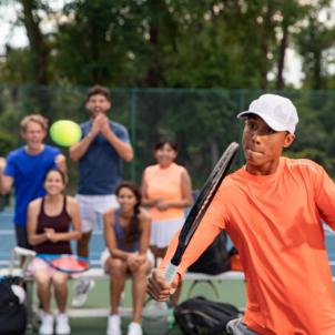 Team Playing Tennis