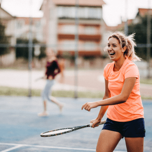 Having fun on the tennis court - stay connect to tennis