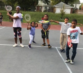 Kids Playing Tennis with DCDPR - Tennis Growing in local communities