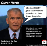 Oliver North was a part of the Iran-Contra, crack for weapons