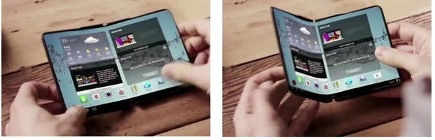 Samsung, Samsung foldable smartphone,Samsung Foldable design info,Samsung Change Unlocking the Device, samsung launch Launch Foldable Smartphones, Upcoming technology 2017