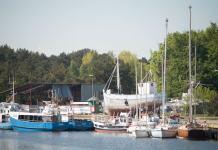 Obecnie jachty cumują między innymi w basenie węglowym - ustka24.info