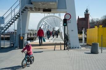 Ustecka kładka ponownie uruchomiona - ustka24.info