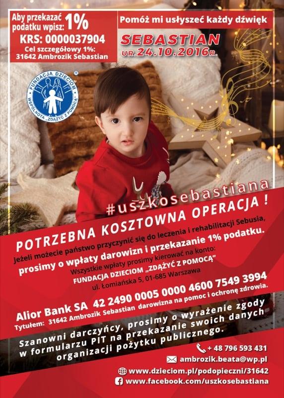Sebastian Ambrozik - mały ustczanin potrzebuje naszej pomocy