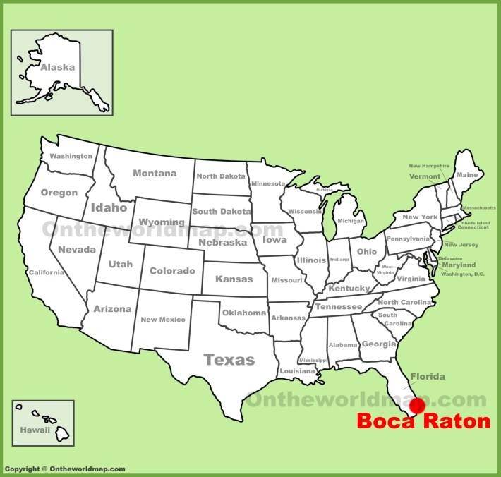 Boca Raton Location On The U.s. Map for Mapa Miami Boca Raton