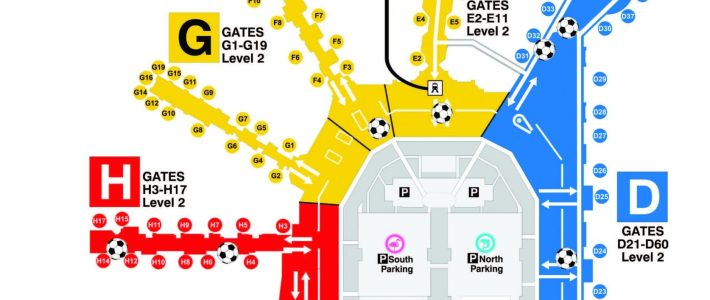 World Cup Viewing Locations - Miami International Airport for Miami Airport Directory Map