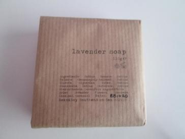 Bean and Boy Lavender Soap ingrediants list