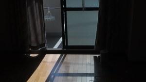 アパートの窓とベランダ