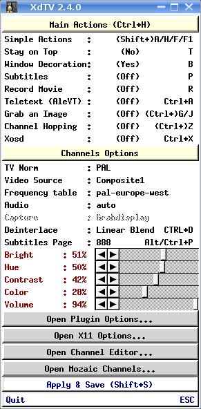 XdTX Main Options