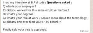 Latest US Visa Interview Questions H1B