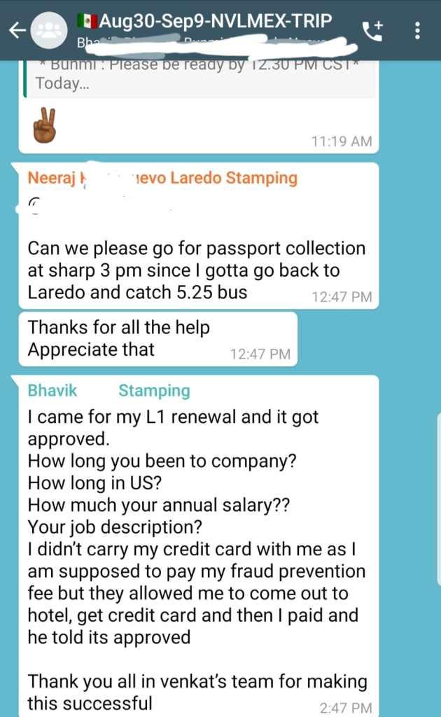 h1b_h4_l1a_l1b_l2_e3_visa_stamping_nuevo_laredo_latest_experiences_2019_2020_2021_3