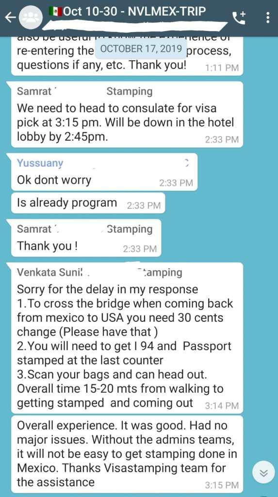 US Visa H1B Stamping in Nuevo Laredo 2019 2020 2021 2022