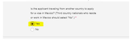 """Were you previously issued a visa to enter the United States ? As you are already in US on visa(expired or valid), You need to answer """"YES"""" & Select as """"Issuing Post Not Listed"""" If your previous stamping was not from Mexico locations. (Anywhere in India or Canada or Jamaica)"""
