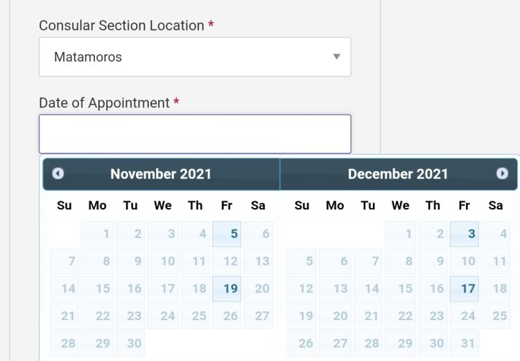 Current Visa Appointment Interview Dates Availability in Mexico 2021 6 Mexico US Visa Stamping Visa Info H1B Appointment
