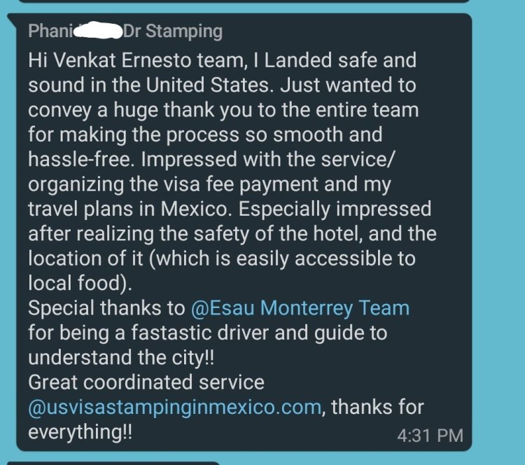 Reviews 3 Mexico US Visa Stamping Visa Info H1B Appointment