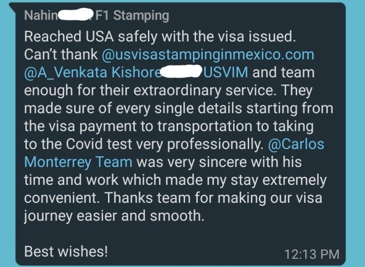 Reviews 1 Mexico US Visa Stamping Visa Info H1B Appointment