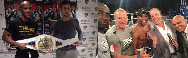 """Christian """"titi"""" Berthely remporte la ceinture du tournoi Meaux Fight 6"""