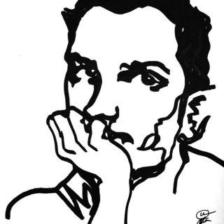 Male portrait Series, Brazilian actor, Black and White