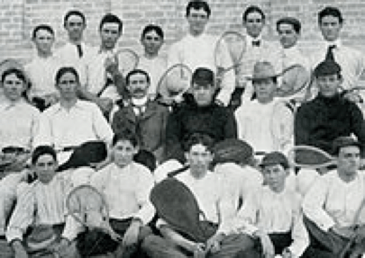 Penick pictured with the UT Men's Tennis Team