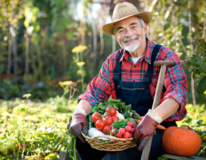 Happy Old Farmer
