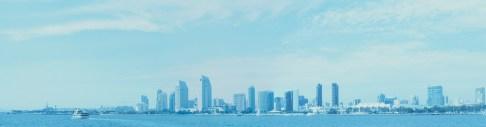 San Diego Skyline Panorama, California