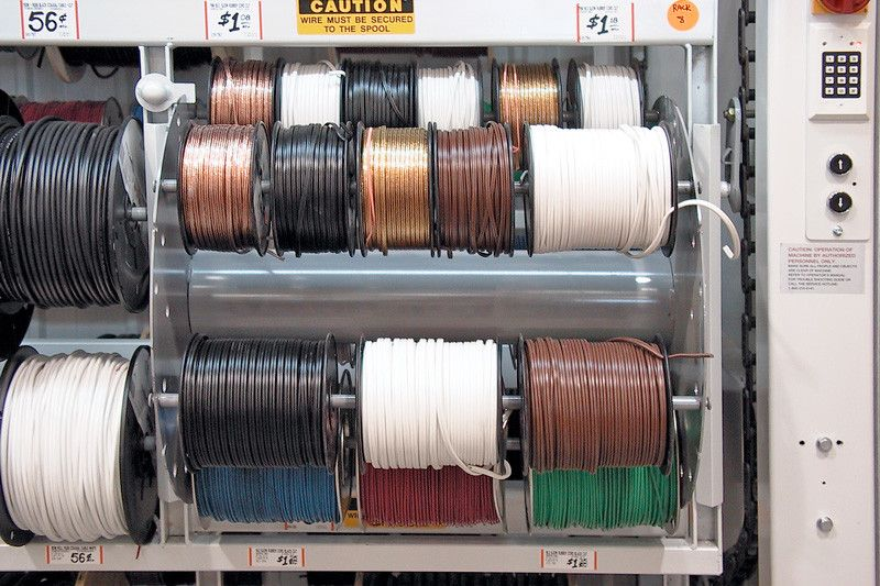 Motorized Wire Spool Vertical Carousel Wire Spools