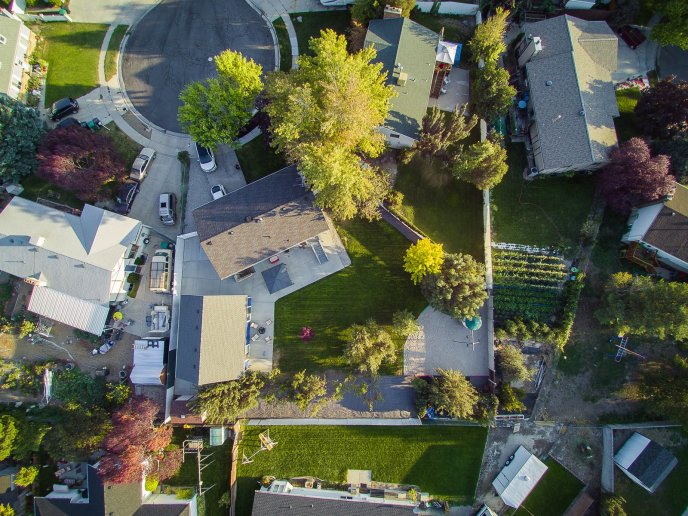drone, aerial photography of real estate in Utah.