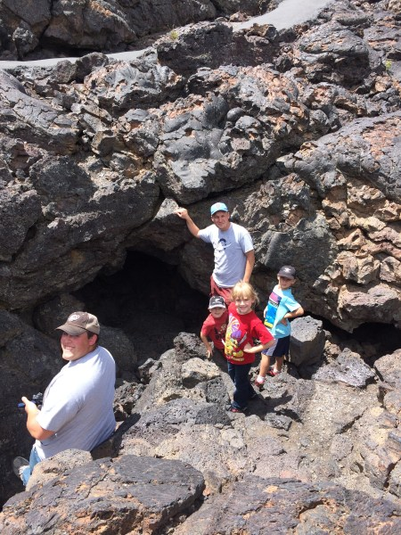 The larger entrance to Boy Scout Cave.