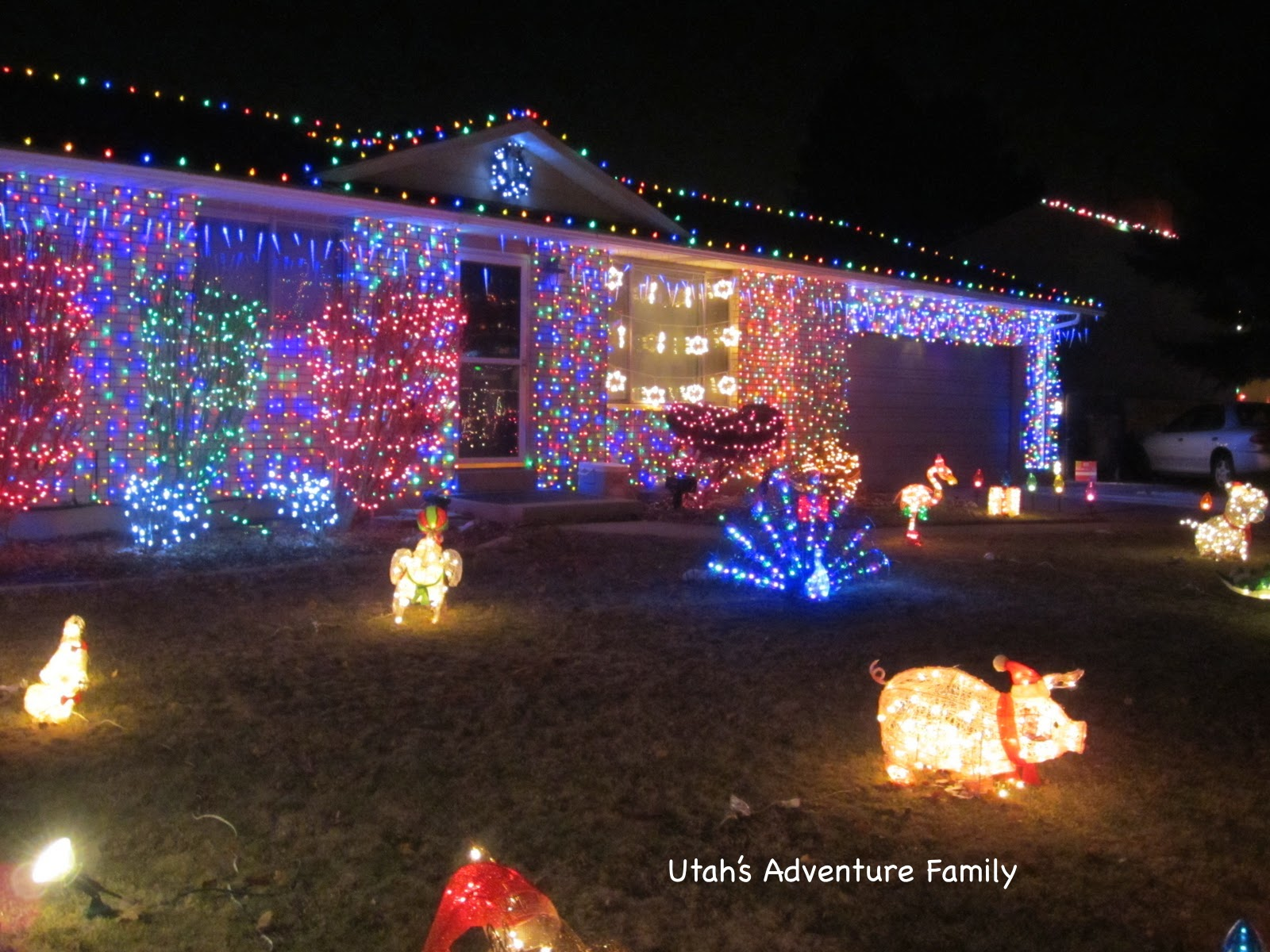 a house with lights set to music - Christmas Music Lights