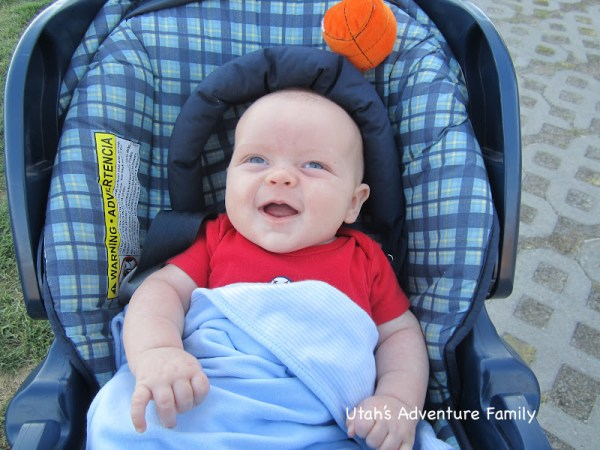 The baby is a big fan of any walk. He especially liked the bumpy parts!