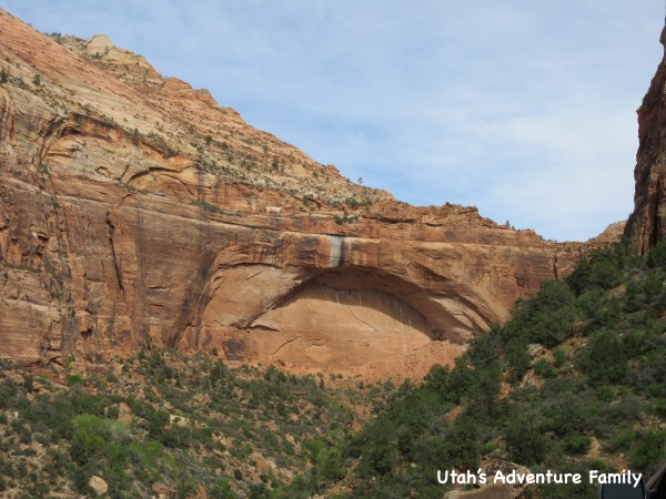 When you drive back down the switchbacks you can look and see where you were standing--right above that Arch.