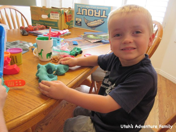 We love playing with play dough.