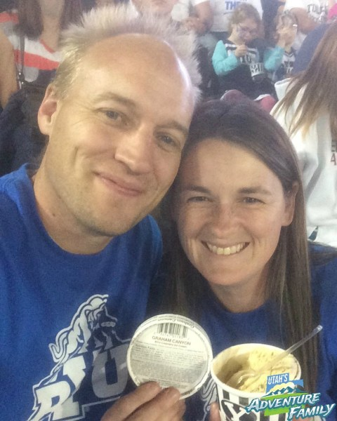 There are lots of yummy treats at the game too. We like to splurge on BYU creamery ice cream when we go. Graham Canyon is the best!!!!