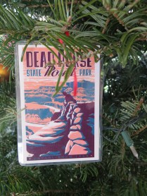 Dead Horse Point Postcard Ornament at the 2016 Monticello Fesival of the Trees