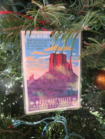 Monument Valley Postcard Ornament at the 2016 Monticello Fesival of the Trees