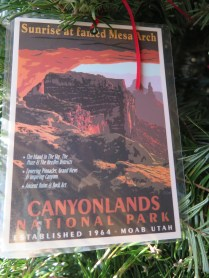 Canyonlands Postcard Ornament at the 2016 Monticello Fesival of the Trees