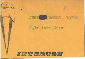 Intercon gofer badge from Jeri Woods