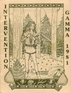 Intervention Gamma (1981) program book cover