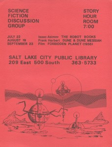 SF discussion group flier