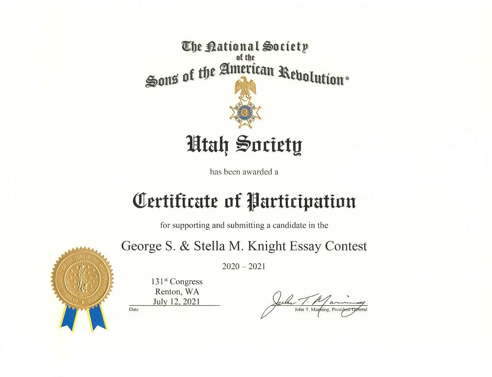 2021_KnightEssay Cert_of_Part