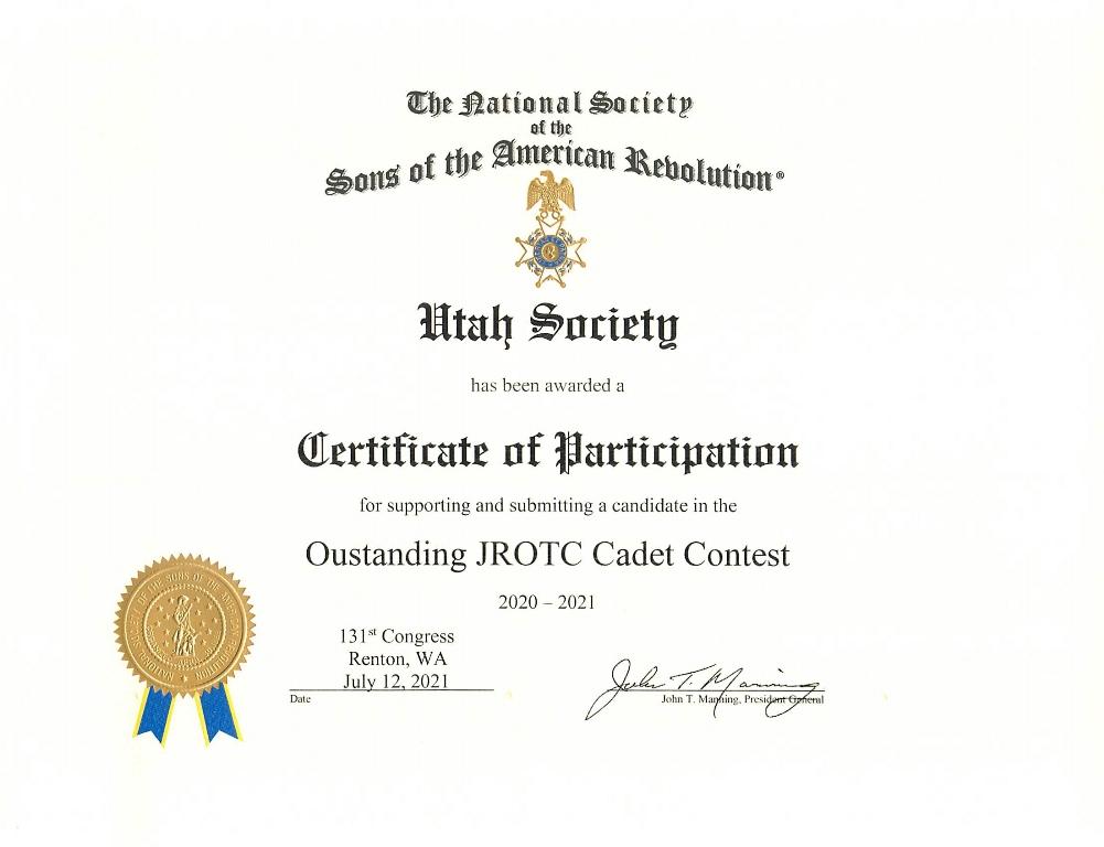 2021_Outstanding JROTC