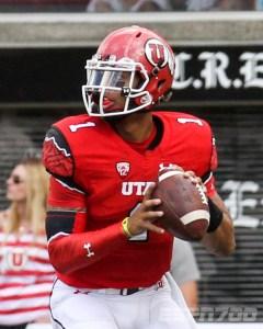 Utah football quarterback Kendall Thompson