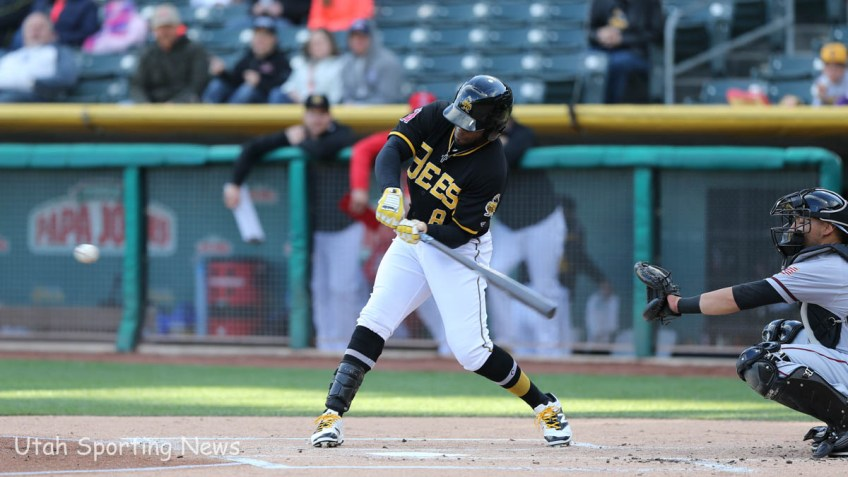 Bees outfielder Eric Young Jr. (Photo Rob Gray)
