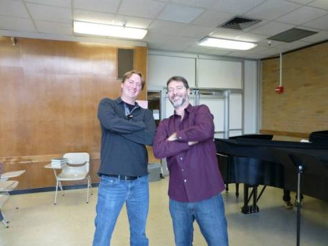 Brad Otteson and Timothy Deighton, striking a pose.